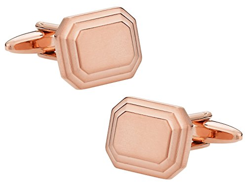 Cuff-Daddy Engravable Rose-Gold Tone Cufflinks with Presentation Box