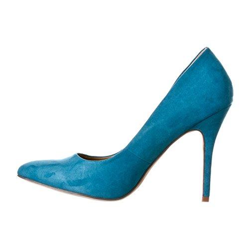 Toe Turquoise Pointed Gaby Women's Suede Heels Pump Riverberry Closed Stiletto wUIfq1