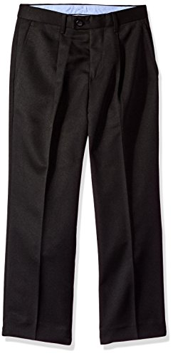 Nautica Big Boys' Microfiber Pant, Black, 10 ()