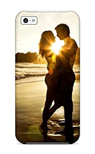 Hot Love Couple Beach Kiss Kissing First Grade Tpu Phone Case For Iphone 5c Case Cover