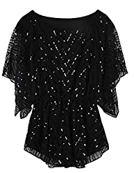 Women's Sequin Beaded Sparkly Blouse