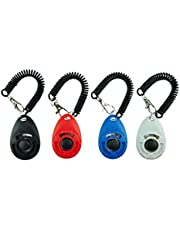 EcoCity Upgrade Version Dog Training Clicker with Wrist Strap, 4-Pack