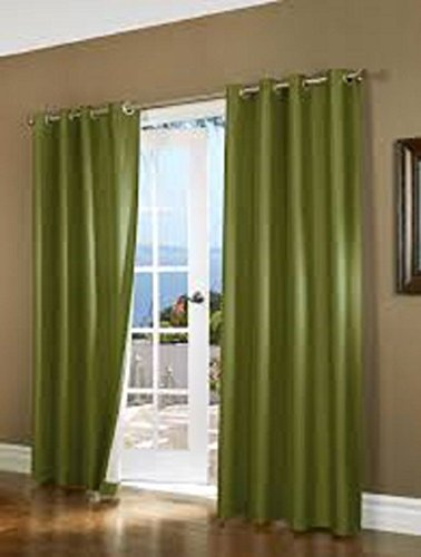 Gorgeous Home AVAILABLE IN DIFFERENT SIZES COLORS 60 1 PANEL SOLID LINED FOAM BLACKOUT HEAVY THICK WINDOW TREATMENT CURTAIN DRAPES SILVER
