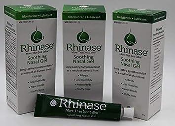 3 Pack Rhinase Nasal Gel for Allergy, CPAP, Nosebleed, low humidity dry nose