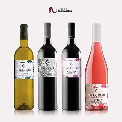 Pack vino regalo DO Navarra - 4 Botellas Galcibar: Amazon.es ...