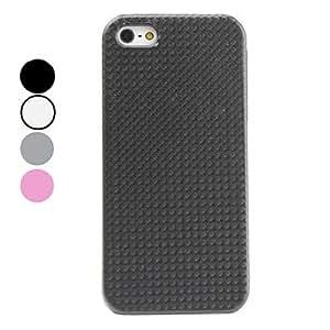 compra Caso duro del diseño del grano grassmat para el iphone 5/5s (colores surtidos) , Blanco