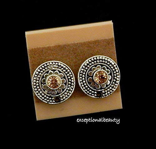 Antiqued Silver Filigree Bead Earring Findings Swarovski Crystal Pure Allure