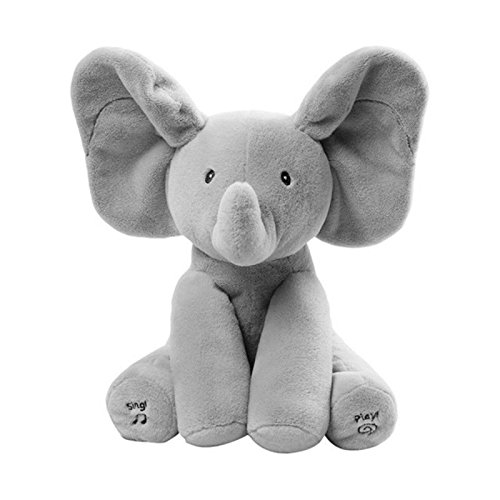 Abester Flappy Elephant Plush Soft Toys Peek A Boo Pal Animated Sound Toys Baby
