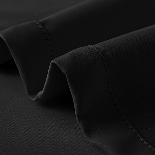 ChadMade Fireproof Flame Retardant Thermal Insulated Curtain Drapery Panel Pinch Pleat, Black 72'' W x 120'' L Home, Office, Hotel, School, Cinema Hospital (1 Panel), Exclusive by ChadMade (Image #3)