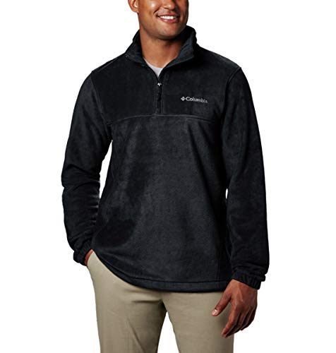 Columbia Men's Steens Mountain Half Zip Soft Fleece Jacket, Black, Large