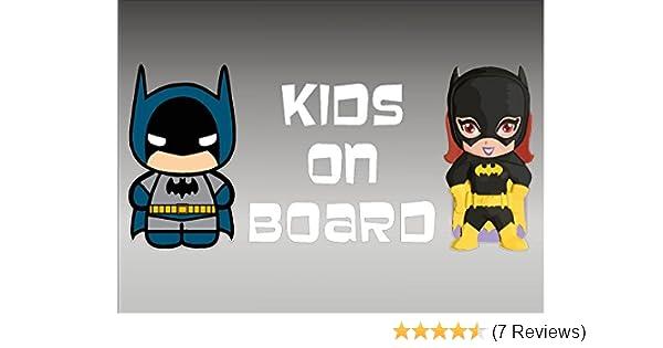 Vinyl Vehicle Car Decal Graphics DC Comics Batman and Batgirl KIDS on Board