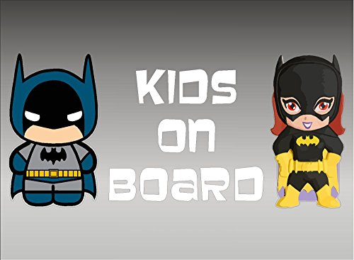 DC+Comics Products : Batman and Batgirl KIDS on Board / DC Comics Batman / Vinyl Vehicle Decal Kids Graphic Stickers