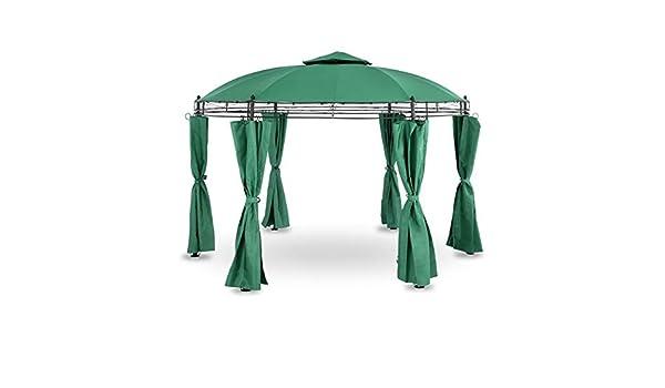 Uniprodo Pérgola De Metal Pabellón para Terraza Uni_PERGOLA_3.5GR (Toldo de Ø 3, 50 m, 180 g/m², Altura Total: 2, 80 m, Verde Oscuro): Amazon.es: Jardín
