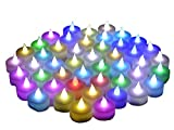 Instapark LCL-C24 Battery-powered Flameless Color changing LED Tealight Candles, Two Dozen Pack