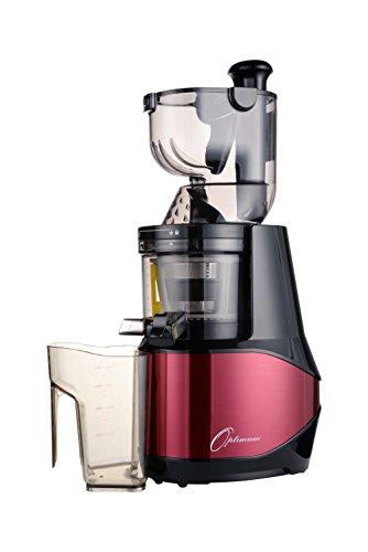Optimum 700 Advanced Cold Press Whole Fruit Juicer, Powerful 200 W, 2 Liter (Half Gallon) Capacity (Red)