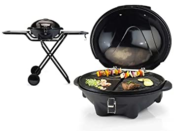 tischgrill 2in1 mit backplatte + grillplatte, standgrill mit ... - Rolltisch Küche