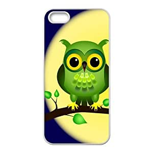 5s Case, iPhone 5 5s Case - Fashion Style New Owl Painted Pattern TPU Soft Cover Case for iPhone 5/5s(Black/white)