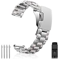 Vetoo 304 Stainless Steel Band Replacement Quick Release Metal Watch Band 18mm 20mm 22mm Watch Strap Wrist Band for Men Women Large Small