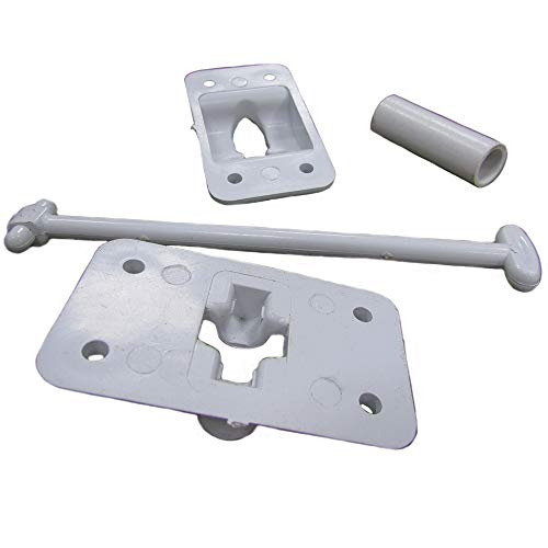 One White Plastic Camper and RV Door Holder with Stop