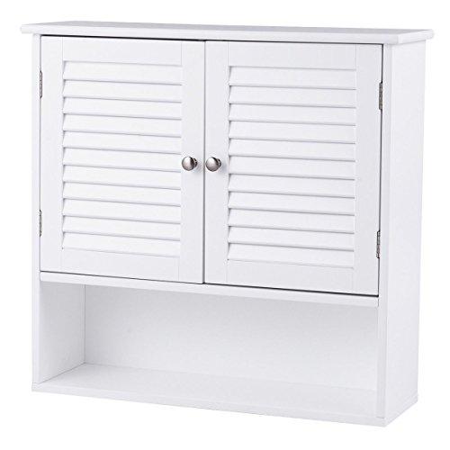 Naibang New Home Room Double Doors Shelves Bathroom Wall Large Storage Cabinet White by Naibang