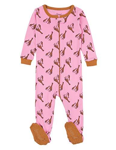 Leveret Kids Pajamas Baby Boys Girls Footed Pajamas Sleeper 100% Cotton (Giraffe, Size 2 ()