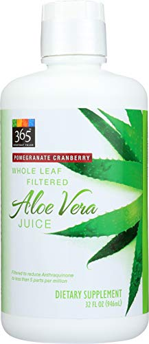 (365 Everyday Value, Whole Leaf Filtered Aloe Vera Juice, Pomegranate Cranberry Flavor, 32 fl oz)