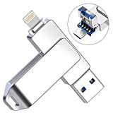 Flash Drive for iPhone, YOUNI 128GB Android USB 3.0 Flash Drive, 3 in