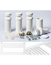 Uchwyt do grzejników łazienkowych w kolorze białym chromu i czarnym odpowiedni do grzejników prostych i zakrzywionych (1. biały)