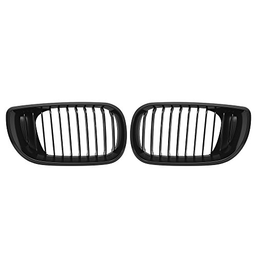 E46 Wagon (Astra Depot Matte Black Euro Front Upper Kidney Grille For 2002-2005 E46 3 Series 320 325 330 4D Sedan Wagon)