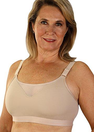 Classique Post - Classique Post Mastectomy Sports Bra with Moisture Resistant Fabric 40DD Beige
