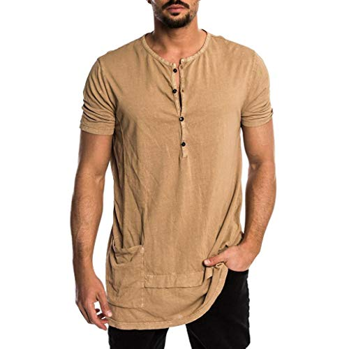 Fashion Mens Summer Casual Hooded Pure Color T-Shirt Short Sleeve Top Blouse Tank Tops Mens Summer Tronet