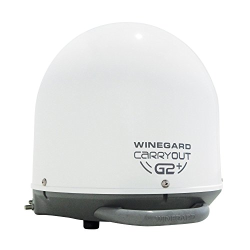 Winegard GM-6000 Carryout G2+ Automatic Portable Satellite TV Antenna with Power Inserter (RV Satellite for DIRECTV, Dish, BellTV) - White