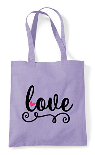 Tote Bag Shopper Swirl Love Lavender agqwWfS5