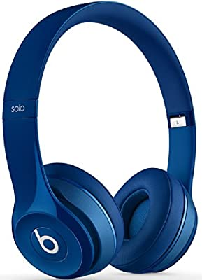 Beats by Dr. Dre Solo 2.0 Blue On-Ear Headphones Carry Pack with Wire Holder
