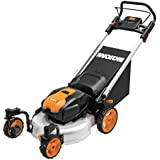 WORX WG771 56V Lithium-Ion 3-in-1 Cordless Mower with Locking Caster Wheels, 19-Inch