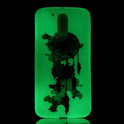 [Extremadamente Delgada] Funda 3D Silicona Transparent para Motorola Moto G4 / G4 Plus , Funda TPU Ultra Slim para Motorola Moto G4 / G4 Plus , TOCASO Case Fina Slim Fit Cristal Clear, Noctilucent Cov Campánula