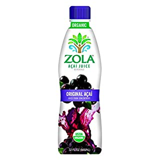 Zola Brazilian Superfruits Açaí Berry Original Juice, 32 Ounce Bottles (Pack of 8)