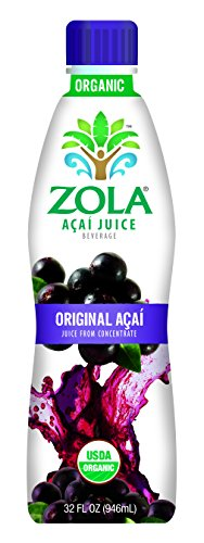 Zola Brazilian Superfruits Acai Berry Original Juice, 32 Ounce Bottles (Pack of 8)