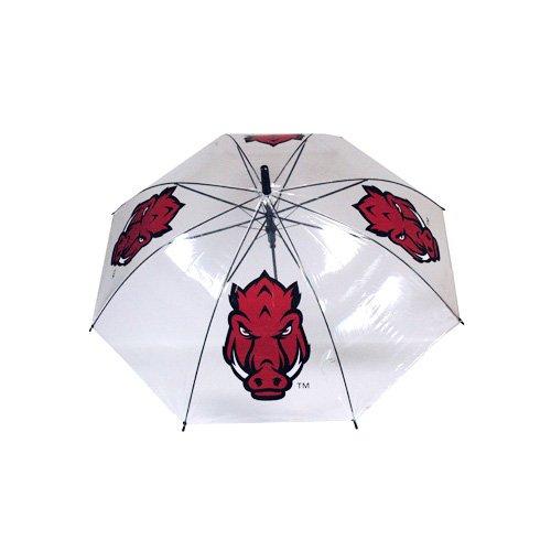 Arkansas Razorbacks Umbrella - Game Day Outfitters NCAA Arkansas Razorbacks PVC Umbrella, One Size, Clear