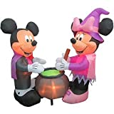 HALLOWEEN DECORATION LAWN YARD INFLATABLE AIRBLOWN DISNEY LIGHT UP VAMPIRE MICKEY MOUSE & WITCH MINNIE MOUSE 6' TALL