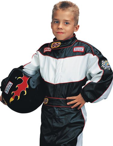 Large Child's Deluxe Race Car Driver Costume (For Ages -