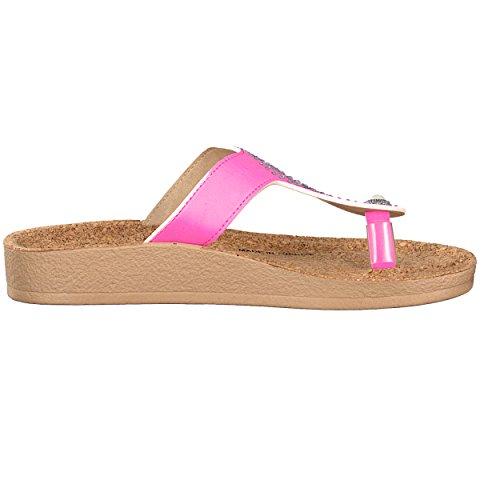 brandsseller - Sandalias para mujer Rosa