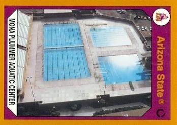 Mona Plummer Aquatic Center Trading Card (Arizona State) 1990 Collegiate Collection #68 - Center Aquatic