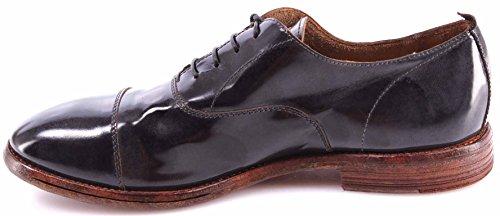 Zapatos Hombre MOMA 16605-8D Splendid Grigio Gris Vintage Cuero Made Italy Nuevo