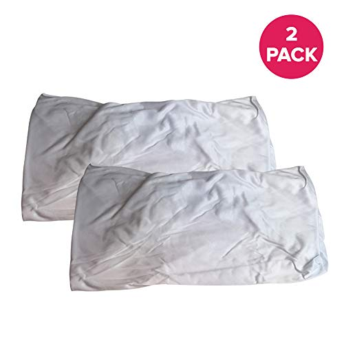"Think Crucial 2 Replacements for Aquabot Pool Filter Bag Fits 8111 & 8101, Maximum Durability, 7.9"" x 7.9"" x 1.1"", Washable & Reusable"