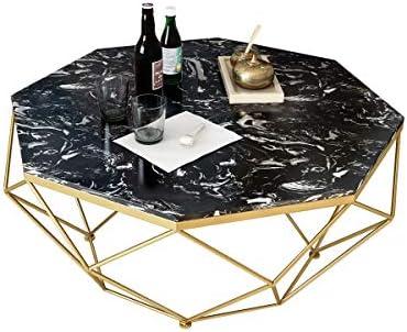Fabrieksprijs Ronde salontafels, moderne banktafels voor kleine ruimtes, marmeren top woonkamer tafel, metalen frame theetafel Ø77X45CM C  vnpVwiq