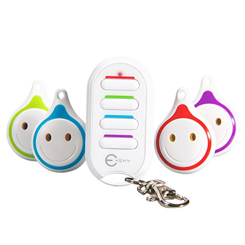 Buscador de Llaves, Esky 4 en 1 Key Finder Control remoto Localizador de artículos inalámbricos Key Finder para Key…