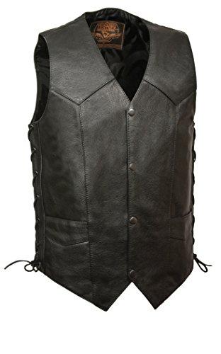 Rey de los hombres de piel clásico Side chaleco de encaje, Negro, Size 56