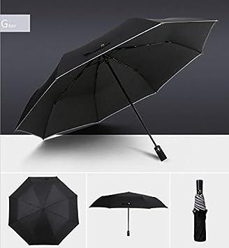 Paraguas Umbrella Hombre Paraguas Plegable Paraguas Soleado Sunny Paraguas Arcoiris Paraguas Arcoiris sombrilla (Color : Gris): Amazon.es: Deportes y aire ...