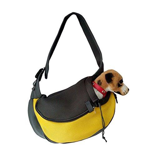 Agent Laptop Bag (Pet Dog Cat Puppy Zip Travel Tote Shoulder Bag Sling Backpack Carrier (S size/Yellow))